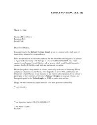 Professional Resume Cover Letter Samples by Sample Cover Letter For New Graduate Nurse Information Clerk