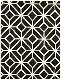 Black And White Modern Rugs Black Moroccan Trellis 8x11 Area Rug Carpet Abstract