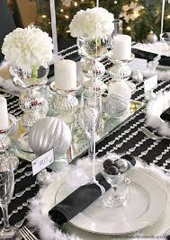black and white table settings black white silver holiday table celebrations at home