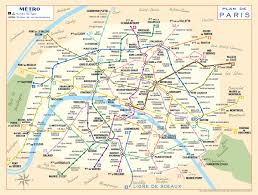Red River Gorge Map 1956 Paris Metro Map U2013 Modern Colours U2013 Transit Maps Store
