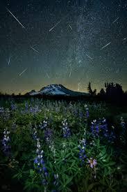the perseid meteor shower over mt hood perseid meteor shower
