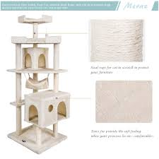 amazon com merax cat tree tower with condo house furniture off