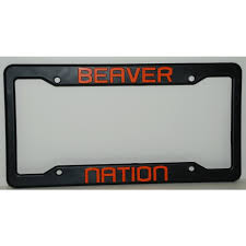 michigan state alumni license plate frame state black plastic license plate frame beaver nation
