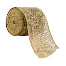 burlap wired ribbon 4 burlap wired ribbon by celebrate it occasions