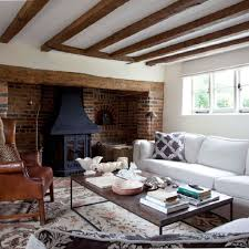 living room glamour cabin wooden finishing cathedral ceiling