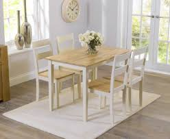 Buy The Chiltern Cm Oak And Cream Dining Table And Chairs At - Cream kitchen table