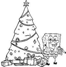 spongebob funny cool christmas coloring christmas
