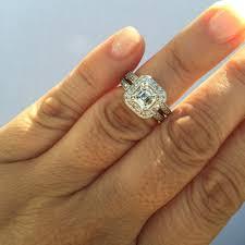 asscher cut diamond engagement rings 1 04ct asscher cut diamond halo ring gia f vs1 jewels by grace