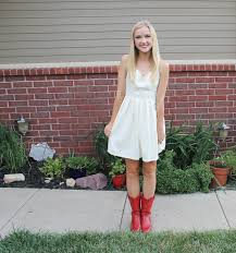 klassically kenzie red cowboy boots