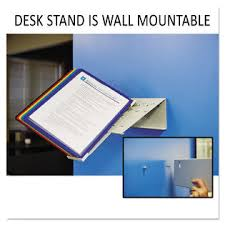 Desk Reference System by Durable Dbl536000 Vario Reference Desktop System 10 Panels