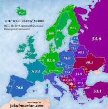 Spain Map World by Map Of Europe Reveals The Countries With The Highest Levels Of