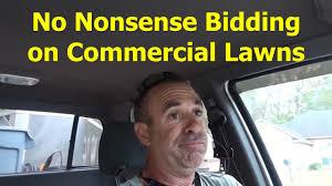 i bid how i bid commercial lawn service sort of free recumbent