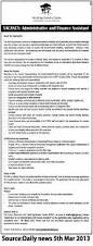 administrative and finance assistant tayoa employment portal