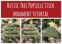 rustic tree popsicle stick ornament tutorial trees christmas