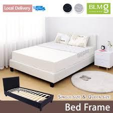 qoo10 blmg sg bed frame single bed frame queen vonnel