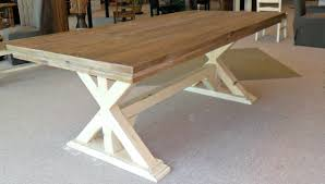 solid wood trestle dining table trestle dining tables with reclaimed wood anaheim trestle reclaimed
