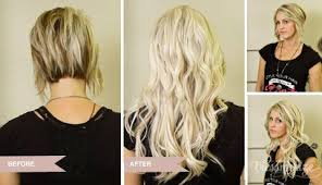 can you get long extensions with a stacked hair cut before and after photos illusions color spa st louis mo