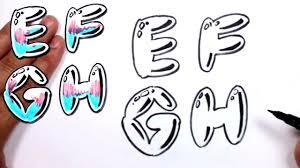 graffiti letters alphabet bubble letters alphabet e f g h mat