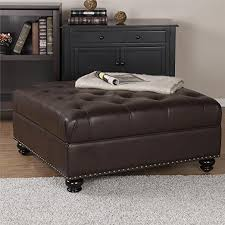 amazon com dorel living hastings tufted faux leather square