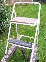 vintage lady seymour locking folding step stool chair cosco step