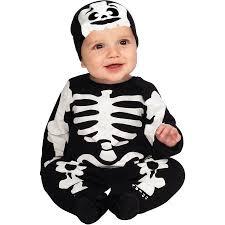 Boys Skeleton Halloween Costume Black White Skeleton Infant Jumper Halloween Costume Walmart