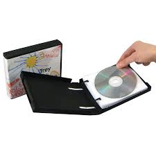 disc 10 cd dvd wallet with 10 jewelpak pages