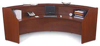 Rounded Reception Desk Curved Reception Desk Station With Cherry Finish