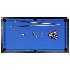 Pool Tables Games Amazon Com Hathaway Hustler 7 U0027 8 U0027 Pool Table With Blue Felt