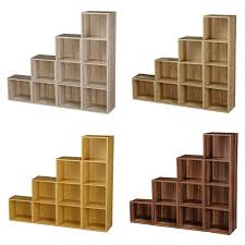 Tiered Bookshelves by How To Build Corner Shelves In Diy Shelving Unit On Classic Oak
