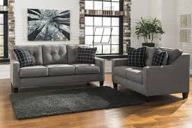 contemporary sofa with track arms u0026 tufted back by benchcraft