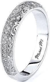 engrave wedding ring michael m engraved pave diamond wedding band r582b