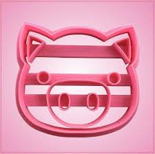 embossed pig cookie cutter cheap cookie cutters