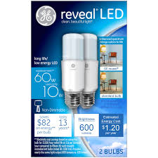 Led Light Bulbs Ge by Ge Reveal 60w Equivalent Uses 10w Led Bright Stik A19 Bulb 2