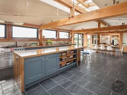 Open Plan by A Light And Spacious Contemporary Timber Framed Open Plan Kitchen