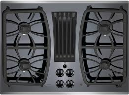 GE PGP9830 30 Inch Gas Cooktop with 4 Sealed Burners Downdraft