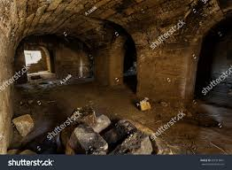 old abandoned tunnel underground wine cellar stock photo 681513841