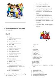64 free possessive case worksheets