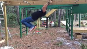 monkey bars on our backyard ninja warrior course anw cliffanger