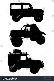 jeep off road silhouette vector drawing machines ride on road stock vector 34725580