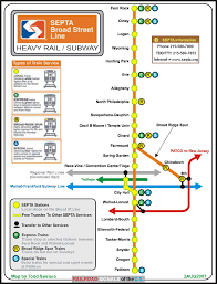 Septa Regional Rail Map Septa U0027s Broad St Subway Line Signal And Railfan Guide