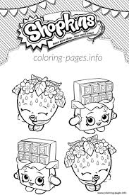 shopkins cheeky chocolate and strawberry kiss coloring pages printable