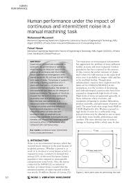 osha technical manual noise human performance under the impact of continuous and intermittent