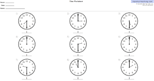 telling time worksheets 1st grade worksheets