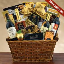high end gift baskets statement wine chagne gift basket winebasket