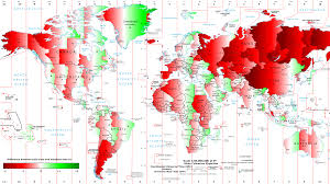 World Time Map Sunrise Sunset Times At Night Over Usa The United States From