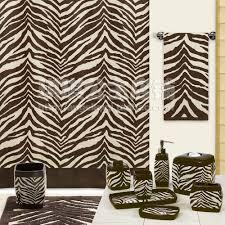 zebra print shower curtain pink