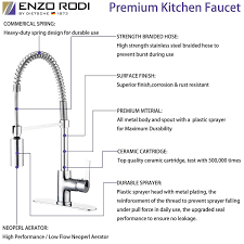 How To Remove An Old Kitchen Faucet Enzo Rodi Erf7209251cp 10 Modern Commercial Kitchen Faucet With