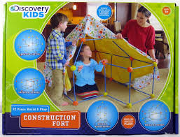 amazon com 72 piece build and play construction fort toys u0026 games
