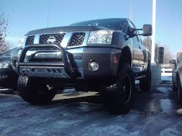 nissan titan long tube headers new aeries bull bar on the titan nissan titan forum