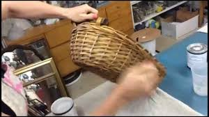 how to clean wicker baskets dry brushing painting technique with alicia slayton youtube